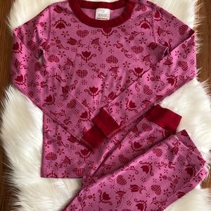 Hanna Andersson sz 140 sz 10 pink red pjs